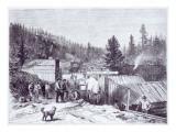 The Indian War, Deadwood City, Black Hills of Dakota, from a Photograph by S. J. Morrow Giclee Print by  American School