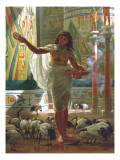 Feeding the Sacred Ibis in the Halls of Karnac Giclee Print by Edward John Poynter