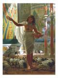 Feeding the Sacred Ibis in the Halls of Karnac Premium Giclee Print by Edward John Poynter