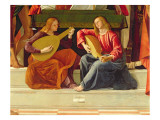 The Angel Musicians, from the Altarpiece of Saint Ambrose Giclée-Druck von Alvise Vivarini