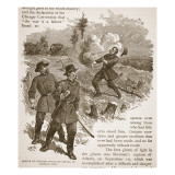 Battle of Kenesaw Mountain - Death of General Polk, from a Book Pub. 1896 Giclee Print by Alfred Rudolf Waud