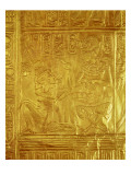 Detail from the Golden Shrine, from the Tomb of Tutankhamun Giclee Print by  Egyptian 18th Dynasty