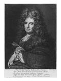 Portrait of Nicolas Boileau, known as Boileau-Despreaux, Engraved by Pierre Drevet Giclee Print by Roger de Piles