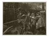 The Mob Boarding the Grain Ship at Garry Kennedy 1840 Giclee Print by William Barnes Wollen