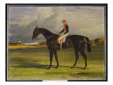 The Earl of Chesterfield's Filly 'Industry', with W. Scott Up, in a Landscape, 1838 Giclee Print by John Frederick Herring Snr
