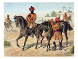 The 1st Bengal Cavalry, Review Order, Anglo-Indian Army of the 1880S Giclee Print by Richard Simkin