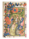 The Baptism of Christ, Historiated Initial 'H' Giclee Print by Don Simone Camaldolese