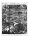 The National Assembly at Bordeaux Discussing the Terms of Peace, the 4th of March 1871 Giclee Print by  English School