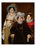 Portrait of Madame De Tangry and Her Daughters, after 1816 Reproduction procédé giclée par  French School