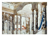 Scenery Design for the Baptism, from Sleeping Beauty, 1921 Giclee Print by Leon Bakst