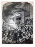 The 'No Popery' Rioters Burning the Prison of Newgate in 1780 Giclee Print by  English School