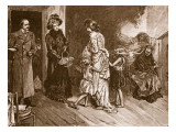 West Meets East: Well to Do Visitors to a Slum Dwelling Giclee Print by John Henry Frederick Bacon