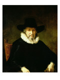 Portrait of a Gentleman Wearing a Ruff and Dark Clothes with a Wide Brimmed Hat Giclee Print by Ferdinand Bol