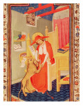Fol.310V St. Jerome, from the Book of Hours of Don Duarte Giclee Print by  Flemish School