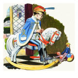 Boy on Rocking Horse, Illustration from 'Teddy Bear' Giclee Print by Jesus Blasco