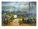 The Battle of Kenesaw Mountain, 27th June 1864 Premium Giclee Print by  American School