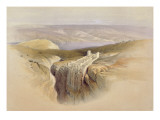 The Dead Sea Looking Towards Moab, April 4th 1839, Plate 50 Giclee Print by David Roberts