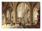 Interior of a Gothic Cathedral with the Priest Saying Mass Giclee Print by Pieter Neeffs the Elder