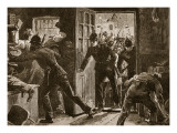 Fight at Ennis Between National Leaguers and Police, 1886 Giclee Print by William Barnes Wollen