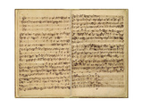 Pages from Score of the 'st. Matthew Passion', 1727 Giclee Print by Johann Sebastian Bach