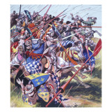 Agincourt - the Impossible Victory 25 October 1415 Giclee Print by Ron Embleton