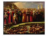 The Baptism of the Murom People by Yaroslav of Murom in 1097 Giclee Print by Russian School