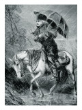 The Circuit Rider, Illustration from 'Harper's Weekly', 12th October 1867 Premium Giclee Print by Alfred Rudolf Waud