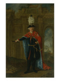 Frederick the Great Dressed in the Costume of the Order of the Black Eagle Giclee Print by  German School