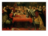 A Venetian Gaming-House in the Sixteenth Century Giclee Print by Valentine Cameron Prinsep