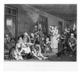 Scene in Bedlam, Plate Viii, from a Rake's Progress Giclee Print by William Hogarth