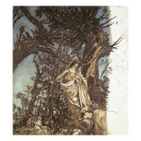 Never So Weary, Never So Woeful, Illustration to 'A Midsummer Night's Dream', 1908 Giclee Print by Arthur Rackham