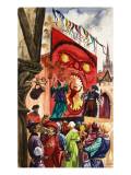 The Wonderful Story of Britain: the Miracle Plays Giclee Print by Peter Jackson
