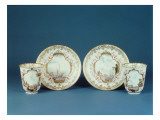 Pair of Meissen Beakers and Saucers, in the Style of Johann Gregor Herold Giclee Print by  German School