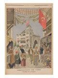 The Turkish Pavilion at the Universal Exhibition of 1900, Paris Giclee Print by  French School