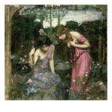 Study for 'Nymphs Finding the Head of Orpheus', C.1900 Giclee Print by John William Waterhouse