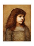 Portrait of Gertie Lewis, Half Length, 1879-80 Giclee Print by Edward Burne-Jones