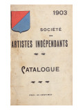 Catalogue for the Salon Des Independants in Paris, 1903 Giclee Print
