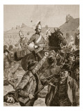 Dragoons and Highlanders Scattering the Rioters in Belfast, 1872 Giclee Print by William Barnes Wollen