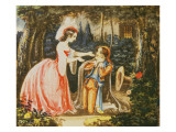 Count Almaviva Kneels before His Wife in Contrition, Act Iv Giclee Print by  Austrian School