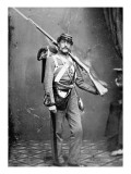 New York State Militiaman with Percussion Rifle-Musket Giclee Print by American Photographer 