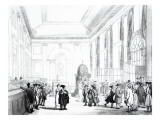 Bank of England, Great Hall, from Ackermann&#39;s &#39;Microcosm of London&#39;, 1809 Giclee Print by Thomas Rowlandson