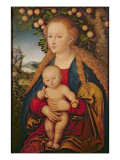 The Virgin and Child under an Apple Tree, 1520-26 Lámina giclée por Lucas Cranach the Elder