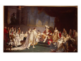 The Espousal of Prince Jerome Bonaparte and Princess Catharina Frederica of Wuerttemberg Giclee Print by Jean-Baptiste Regnault