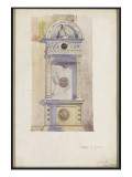 Study of a Jesuit Altar, Certosa Di Pavia, 1891 Giclee Print by Charles Rennie Mackintosh