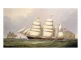 "The Barque ""Undaunted"" Off Ailsa Craig, with Merchant Ships Beyond Giclee Print by C.H. Fyfe"