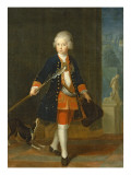 The Crown Prince Frederick Ii in His Corps De Cadets Giclee Print by  Pesne