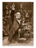Introduction of the Home Rule Bill: Mr. Gladstone Delivering His Peroration, 1886 Giclee Print by Walter Wilson
