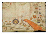 Egypt and the Red Sea, from a Nautical Atlas of the Mediterranean and Middle East Giclee Print by  Calopodio da Candia