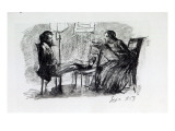 Rossetti Being Sketched by Elizabeth Siddal, September 1853 Giclee Print by Dante Gabriel Rossetti