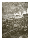 Evacuation of Sebastapol, Illustration from 'Cassell's Illustrated History of England' Giclee Print by  English School